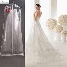 Prativerdi 1x Clear Wedding Dress Cover Storage Bags Dustproof Large Bridal Gown Garment 160/170/180CM Free Shipping(China)