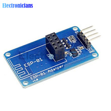 Free Shipping ESP8266 ESP-01 Serial WiFi Wireless Adapter Module 3.3V 5V Esp01 Breakout PCB Adapters Compatible For Arduino