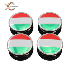 Rhino Tuning 4PC X 60mm Germany Flag Alloy Auto Wheel Centre Badge 60mm for Car Auto Wheel Center Caps Emblem 214(China)