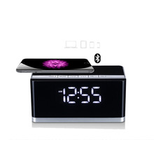 MUSKY DY-27 Bluetooth Wireless Speaker with LED Display Clock Alarm FM Radio Support AUX TF Card USB Playing Loudspeaker