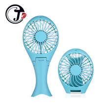 Portable Handheld Mermaid Fans Rechargeable Air Conditioner USB Cooler Fan 1500mAH Air Conditioning Foldable Ventilador Fans(China)