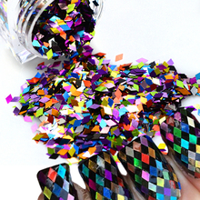 1 box New 2017 Shiny Rhombus Rainbow Colorful DIY Nail Sequin Glitter Slice Paillette Nail Art 3d Beauty Decorations TRND296