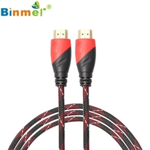 New Braided HDMI Cable V1.4 AV HD 3D for PS3 Xbox HDTV Meters 1080P DF N0118 Support 720P and 1080P true HD resolution.(China)