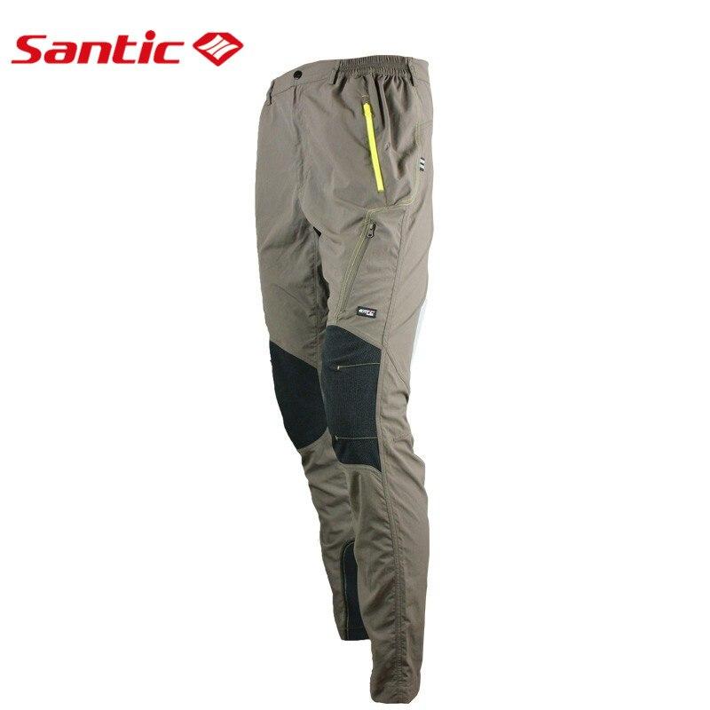 Santic Cycling Pants Long MTB Bike Men Cycling Pants Winter ciclismo Jersey Pants Cycling Khaki Euro S-3XL MC04014<br><br>Aliexpress