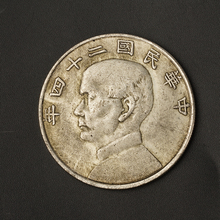 Year 1934 Sun Yat-sen And Sailing Chinese Silver Dollar Replica Coins Craft Commemorative Silver Coin BTC472