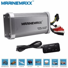 Audio Amplifier 500W Marine Bluetooth Motorcycle Amplifier Home Auto MP3 USB Hi-Fi Stereo Sound System for UTV RV Car ATV Boat