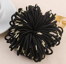 Stylish 10pcs girl hair band Elastic Hair Band Accessory Black Plus Velvet Hair Rope Headband Mix Candy Color hair rings