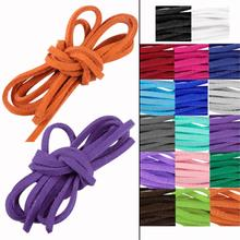 Buy WITUSE Free Shipping! 10PCS Necklace Leather Cord Soft Suede Thong Lace Flat Rope Thread String Craf 1m 3mm for $1.48 in AliExpress store