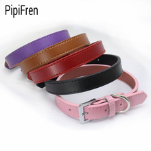 PipiFren Genuine leather Small Dogs Collars Puppy For Accessories Chihuahua Dog Necklace Leather Pets Collar collier pour chien(China)