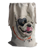 cute dog linen Storage Bags Drawstring Backpack Baby Kids Toys Bags for Shoes School Travel Laundry Lingerie Makeup Pouch