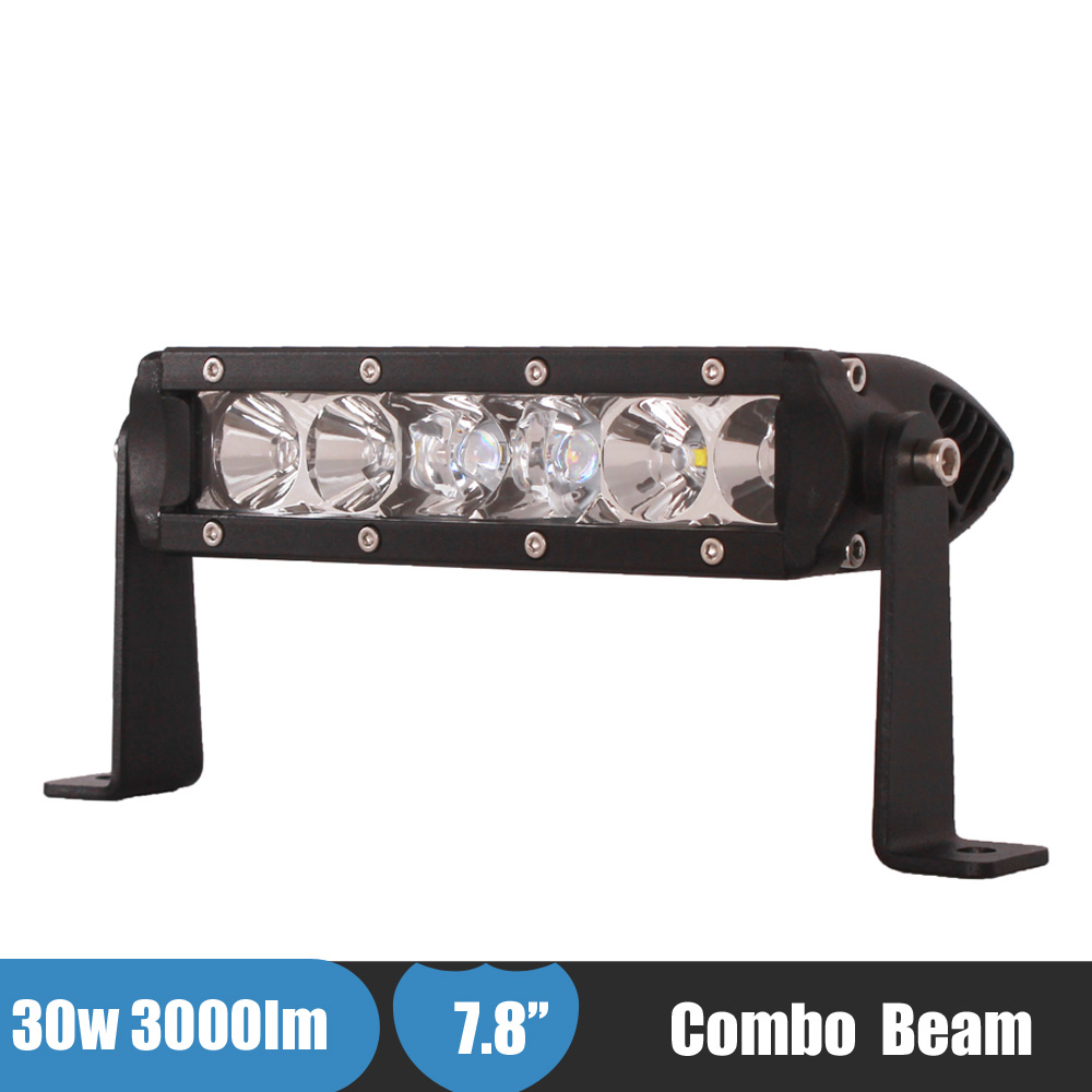 30W LED Bar Offroad 4x4 Work Light 4WD SUV ATV Boat Car Truck 4 Wheelers Fog Lamp Daytime Running Light for Jeep Ford F150<br><br>Aliexpress