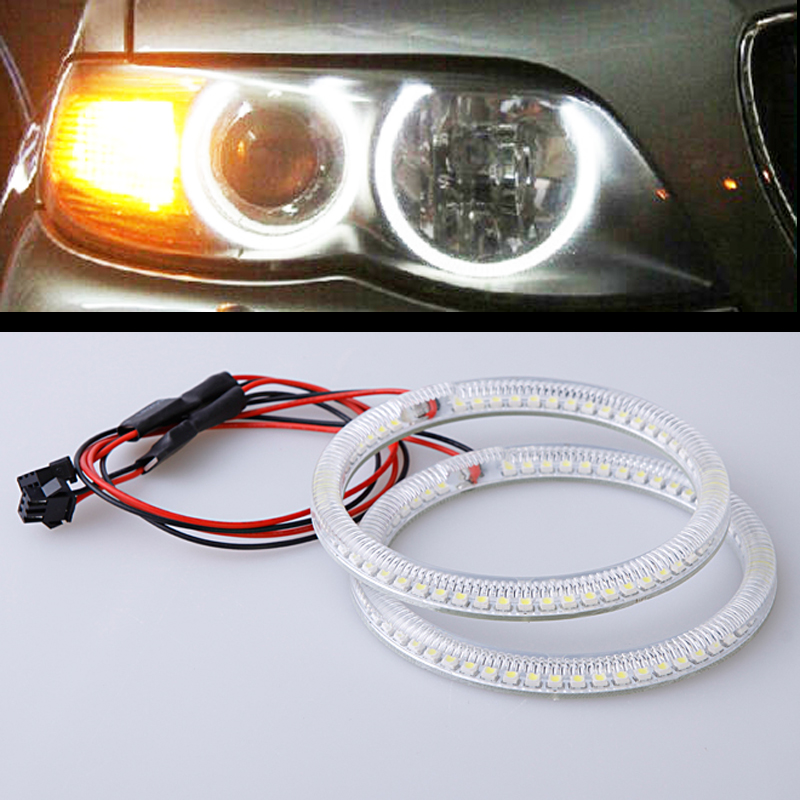 New car styling super bright SMD Angel eyes For B.M.W E46 NON Projector 2*131mm+2*146mm auto replacement headlight accessory<br><br>Aliexpress