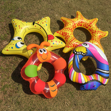 VILEAD Children's Cartoon Starfish Water Swimming Circle Clown Fish Swimming Ring Inflatable Floating Ring for 3-10 Years Old(China)