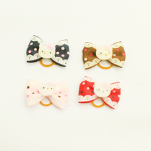 Armi store Handmade Pattern Ribbon Hello Kitty Dog Bow 29010 Pet Rubber Band Head Flower Wholesale