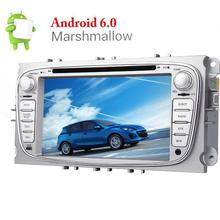 Android6.0 4-Core 7''Car Stereo DVD gps Double Din GPS DVD Player for Ford Focus Navigation Headunit Support Radio/WiFi/OBD2/SWC