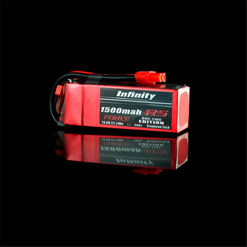 Rechargeable Lipo Battery For Infinity 1500mah 80C-110C 4S1P 14.8V RS FORCE EDITION Lipo Battery<br>