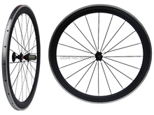 WS-CW025 : Carbon Matt Cycling Road Bike Clincher wheelset 50mm 700C Bicycle Wheel Rim with Alloy Brake Surface