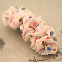 Chiffon Curly Colored Dot Spring Hair Clip for Girls Polka Dots Barrettes for Women Summer Hair Accessories
