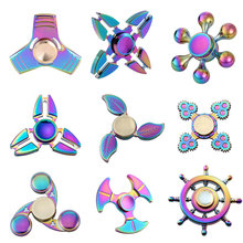 Buy Rainbow Fidget Spinner Toy EDC Hands Spinner Colorful Metal Fidget Spinner Autism ADHD Anti Stress Focus Toys for $3.02 in AliExpress store