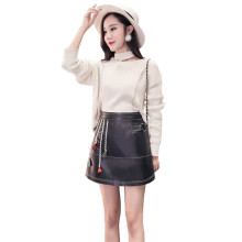Buy Fasbys Sexy Black Zipper Short Skirt Women High Waist PU Leather A-Line Mini Skirt Ladies Office Autumn Winter Casual Skirts for $24.56 in AliExpress store