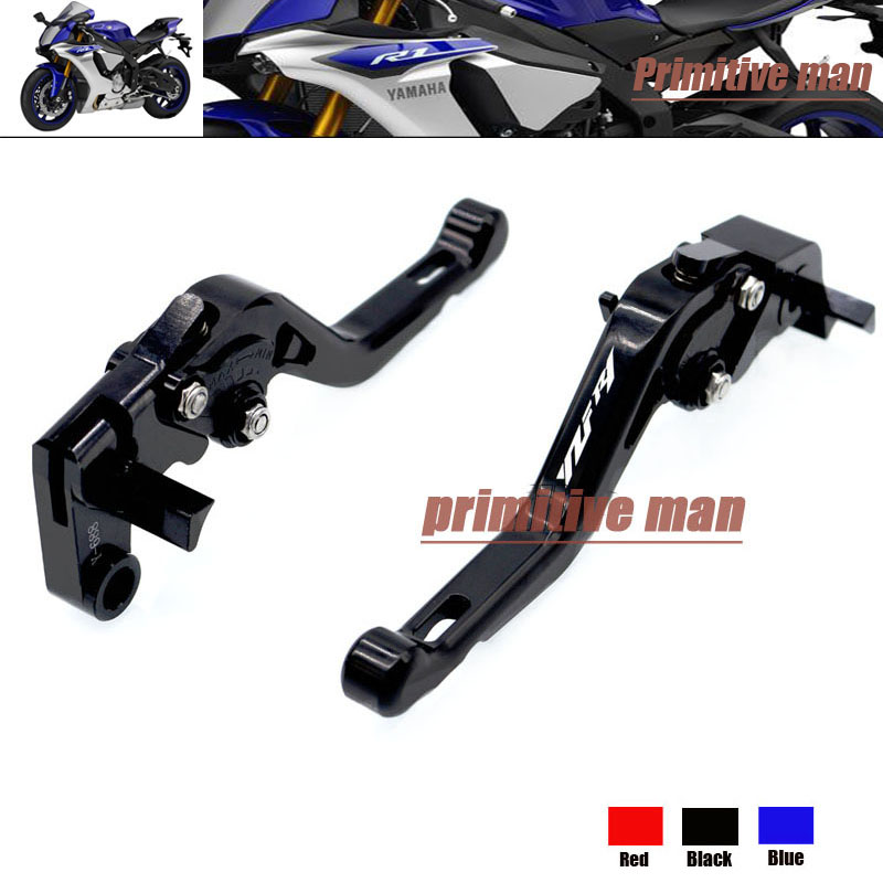 For YAMAHA YZF R1 YZFR1 YZF-R1 2004-2008  CNC Billet Aluminum Short Brake Clutch Levers LOGO YZF R1 YZFR1 YZF-R1 Black<br><br>Aliexpress