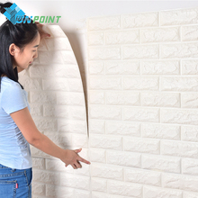 New Foam 3D Wall Stickers Patterns DIY Home Decor Brick Wallpaper For Living Room Kids Bedroom Decorative Sticker Anti-collision(China)