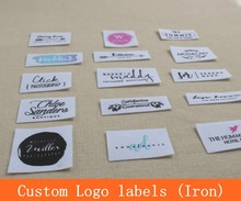 No.4 Custom logo tags, Cotton labels, Iron Labels, Clothing Labels,Name Tags, kids or baby labels, handmade tags, free post ship