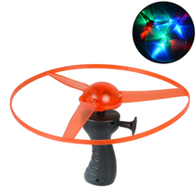 1 Pcs/set Kawaii 25CM New diameter luminous flying saucer UFO flash Pull LED luminous UFO kids toys(China)