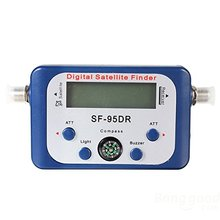 ETC-Digital LCD Satellite Signal Meter Finder Dish with FAT SF-95DR