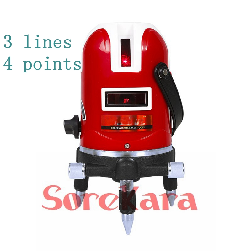 Professional 3 Lines 4 Points 360 Rotary Cross Laser Leveling Self Leveling High Precision Laser Level Kit With Tripod Stand<br><br>Aliexpress