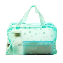 Hot-sale Organizers Waterproof PVC Clear Storage Box Make-up bag for Cosmetics and Bathroom Products Apr14(China)