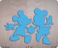 Two mickey blue & Wooden Die Fits Big shot Pro, Sizzix New(China)