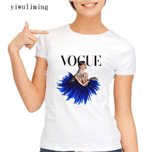 yiwuliming 2017 Brand New Women Tshirt Tattoo Vogue Princess Print Casual Shirt For Lady White Top Tee Hipster Asian Size