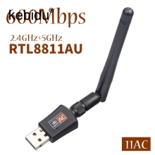 kebidu USB WIFI Wireless Ethernet network card USB WiFi 5Ghz 2.4Ghz 600Mbps Adapter for Windows XP Win Vista Win 7(China)