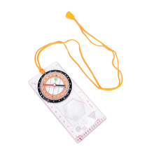 1Pcs Ruler Map Scale Compass Outdoor Camping Hiking Directional Cross-country Race Compass Baseplate