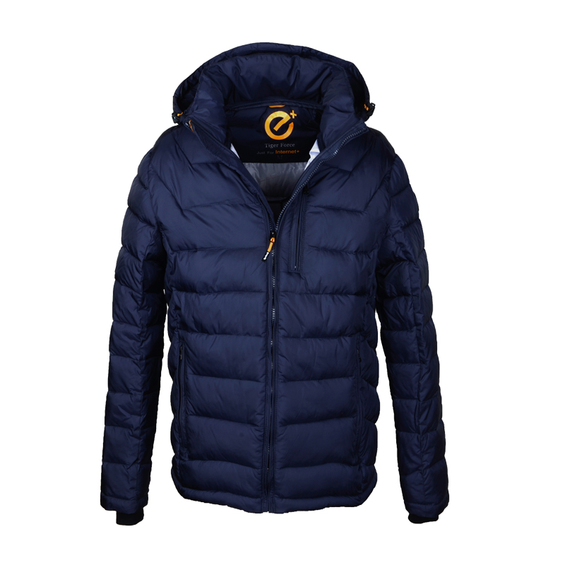 TIGER FORCE Brand Men Cotton Padded Jacket Fashion Winter Autumn Polyester Coat Casual Hooded Jacket European Free Shipping