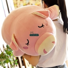 Dorimytrader 85cm Hot Lovely Soft Cartoon Plush Pig Pillow Doll Giant 33'' Stuffed Animal Pigs Toy Baby Present DY60047(China)