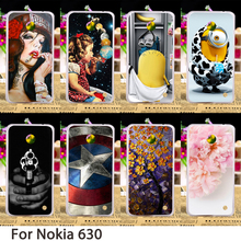Phone Cases For Nokia Lumia 630 DS Dual SIM RM-978 N630 3G RM-976 RM-977 RM-974 RM-975 638 Back Skin Housing Sheath Bag