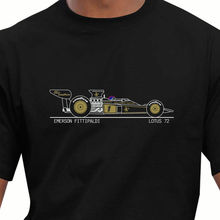Men 2017 Brand Clothing Tees Casual Cotton Print Men T shirt Race Legends Lotus 72 Emerson Fittipaldi Race Car Tees shirts