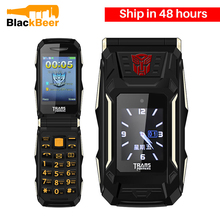 Dual Screen Flip Phone Mosthink TRANS X10 Big Battery Power Bank Mobile Russian Keyboard Senior Button Key Phone VS Rover X9(China)