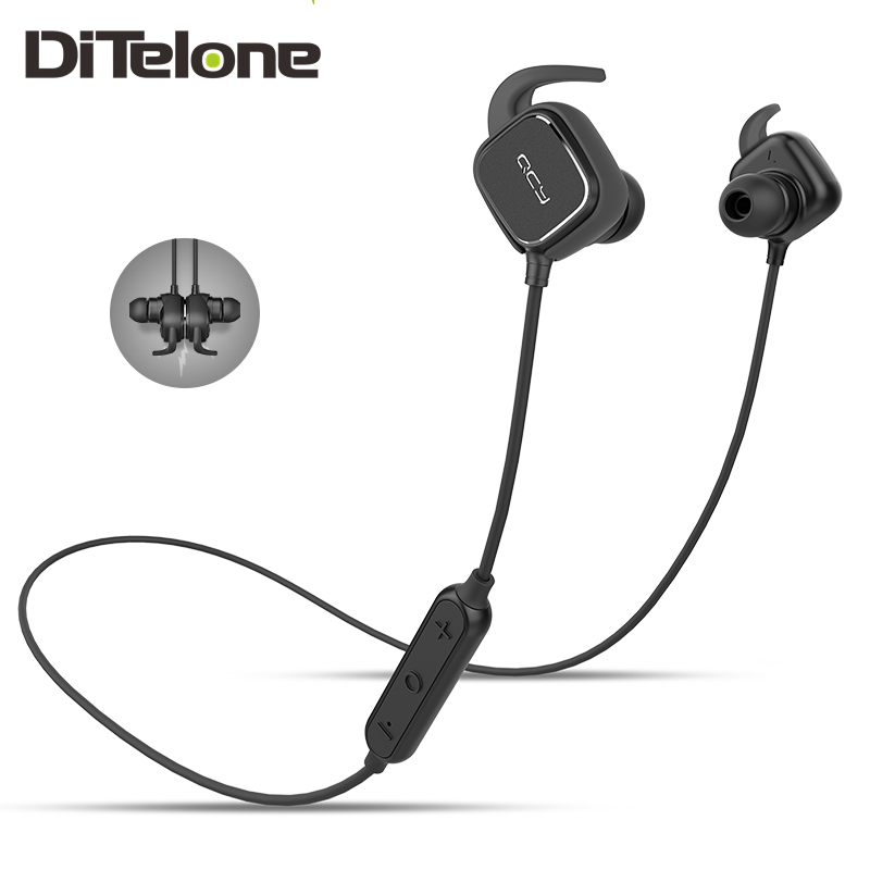 QCY QY12 Earphones Headset For Xiaomi Sport Wireless Bluetooth Headset In-Ear with Mic Magnet Function Adsorption English Voice<br><br>Aliexpress