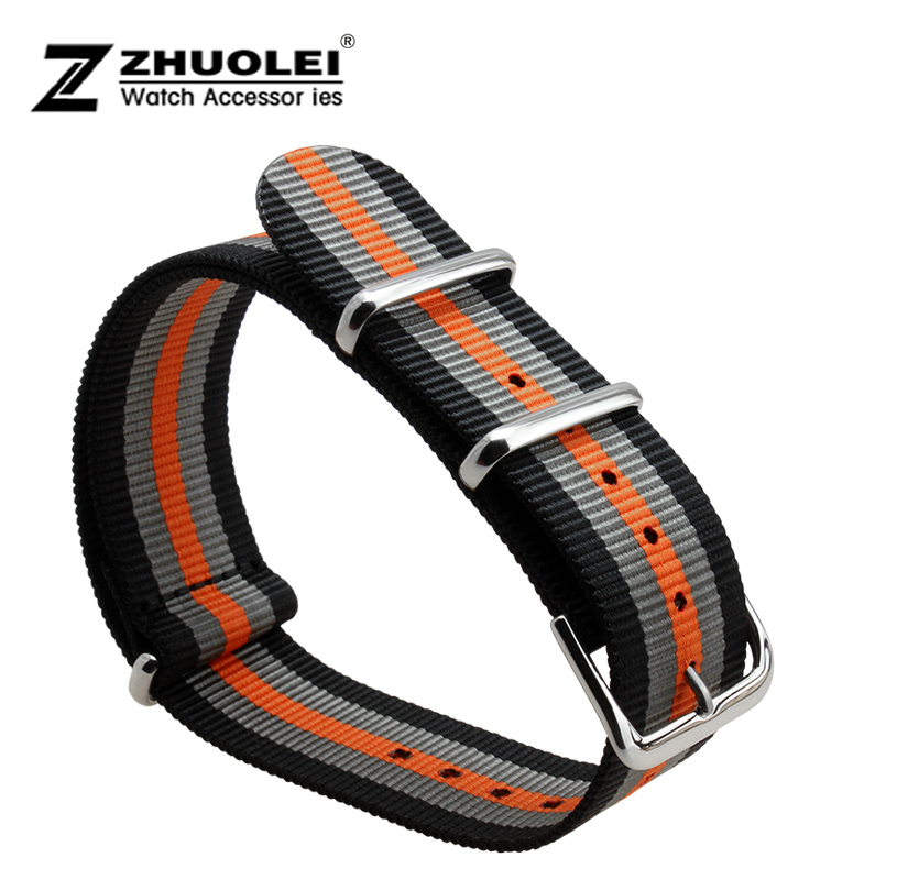 Wholesale 18mm 22mm 24mm Multicolor Sports nato fabric Nylon watchband Watch Strap accessories Bands Buckle belt<br><br>Aliexpress