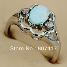 SHUNXUNZE Rave reviews Larimar and White Cubic Zirconia jewelry Casual Silver Plated Ring R3515 sz#6 7 8 9 First class products