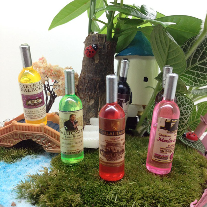 Wine Bottle Miniature Fairy Garden Home Houses Decoration Mini Craft Micro Landscaping Decor DIY Accessories(China (Mainland))