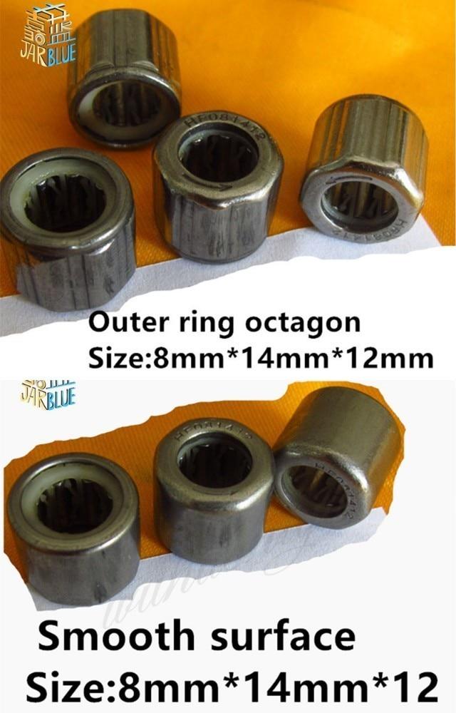 HF081412 8x14x12mm One Way Needle Roller Steel Bearing Octagonal For EasyMop