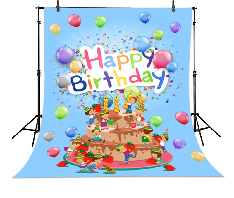 Cake  Princess Happy Birthday photo backdrop High-grade Vinyl cloth Computer printed children Photography Backgrounds<br><br>Aliexpress