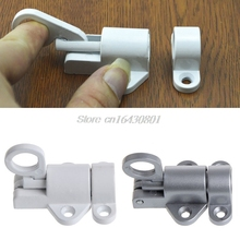 Security Pull Ring Spring Bounce Door Bolt Window Gate Aluminum Latch Lock #S018Y# High Quality