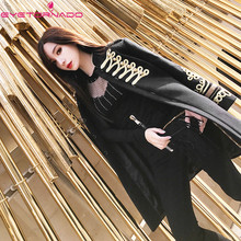 Royal style gold thread embroidery double breasted long wool coat women fashion woolen cashmere thick pea coat outwear E7572(China)