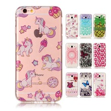 for iPhone 4 4s 5G 5S SE 5C 6 6s 7 Plus Luxury Soft Case Skin Back Cover for iPod Touch 5 6 Cartoon Owl Horse Flowers Pineapple