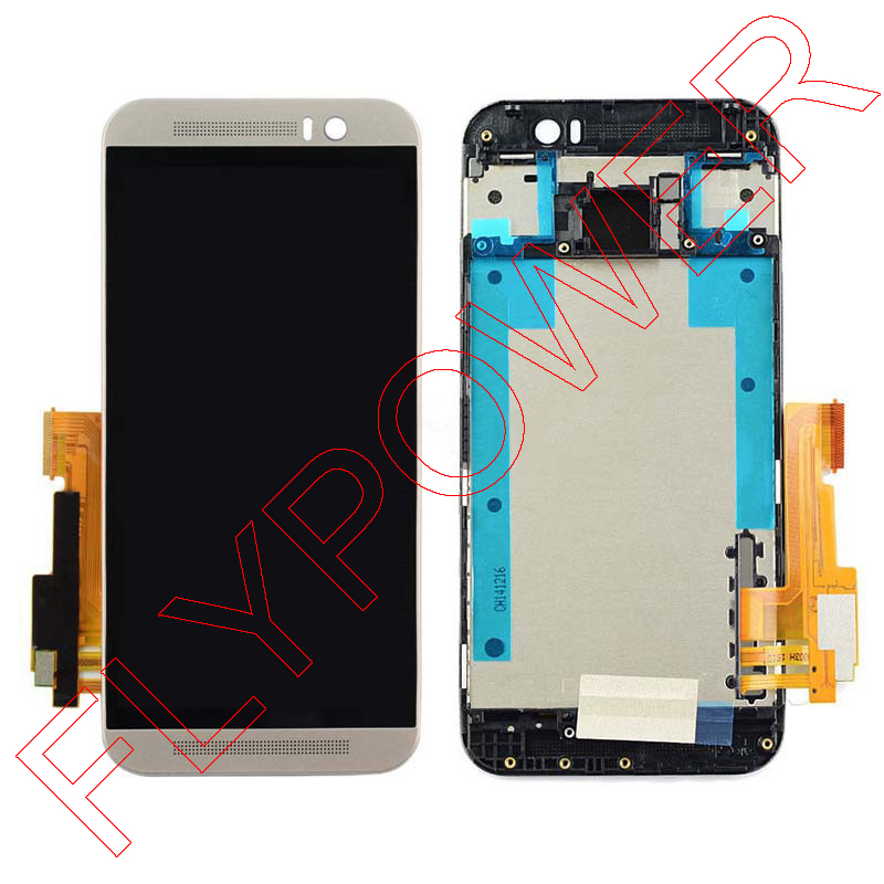 Full Set LCD + Touch Screen and Frame for HTC One M9 Display with Digitizer sliver Color free shipping<br><br>Aliexpress